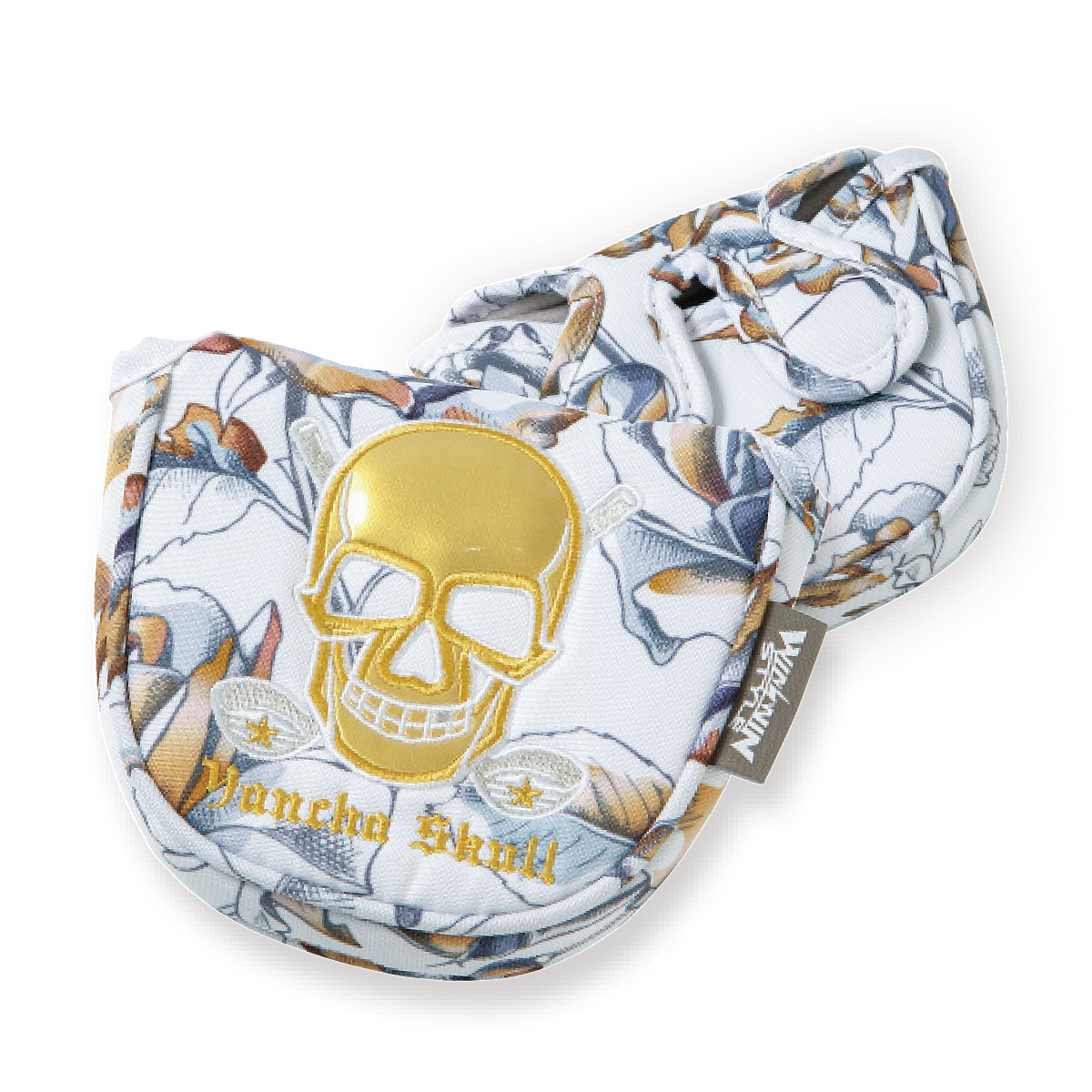 YANCHA SKULL ROSE PUTTER COVER マレットタイプ